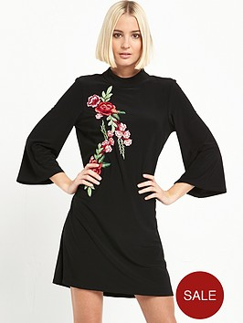 river-island-river-island-turtle-neck-embroidered-dress