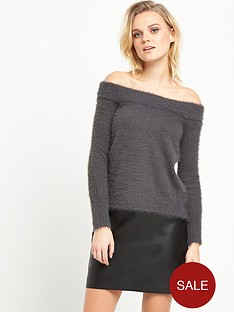 river-island-bardot-jumper-grey