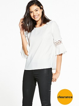 river-island-river-island-white-short-sleeve-umbrella-sleeve-top