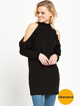 river-island-cold-shoulder-jumper-with-frill-detail-black