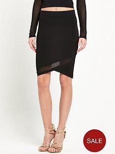 river-island-knitted-mesh-panel-mini-skirt-black