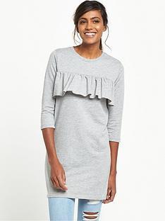 river-island-frill-oversized-t-shirt-grey
