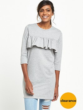 river-island-frill-oversized-t-shirt-grey