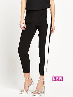 river-island-stripe-soft-trouser-black