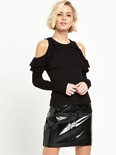 river-island-cold-shoulder-frill-jumper-black