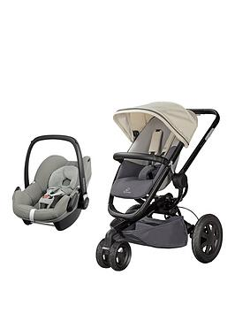 quinny-buzz-xtra-pushchair-reworked-grey-and-maxi-cosi-pebble-car-seat-grey-gravel-travel-system-bundle