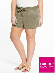 v-by-very-curve-curve-tie-waist-tencel-short-khaki