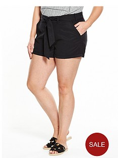 v-by-very-curve-curve-tie-waist-tencel-short-black