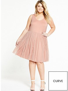 junarose-curve-net-skirt-dress-pink