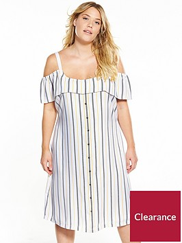 junarose-curve-cold-shoulder-stripe-dress