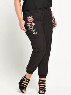alice-you-cuffed-hem-embroidered-pants-black