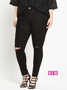 alice-you-ripped-knee-skinny-jean-black