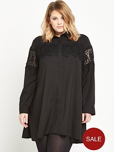 alice-you-embroidered-shirt-dress-black