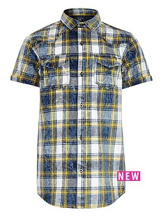 river-island-boys-blue-and-yellow-check-short-sleeve-shirt