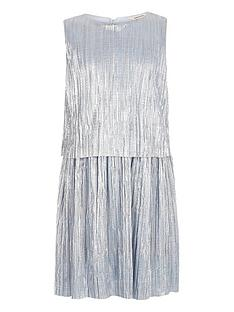 river-island-girls-metallic-blue-pleated-dress