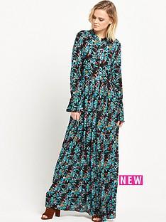 glamorous-floral-high-neck-maxi-dress