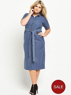 lost-ink-curve-denim-dress