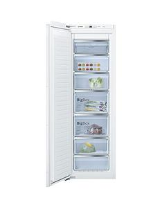 Bosch Serie6GIN81AE30G 55cm Integrated Frost Free Tall Freezer - White