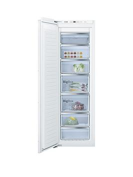 Bosch Serie 6 Gin81Ae30G 55Cm Integrated Frost Free Tall Freezer - White
