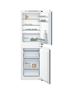 bosch serie 4 kiv85vf30g 55cm integrated fridge freezer white