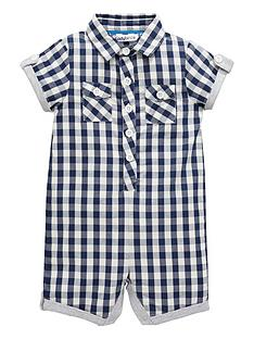 ladybird-baby-boys-gingham-check-shirting-romper