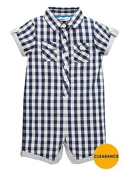 ladybird-baby-boys-gingham-check-shirting-romper