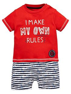ladybird-baby-boys-rulesnbspvalue-romper-set