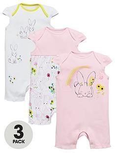 ladybird-baby-girlsnbsp3pknbspbunny-rompers