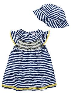 ladybird-baby-girls-stripe-shirred-sun-dress-and-hat
