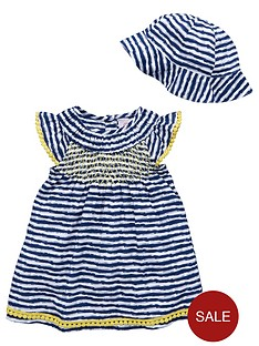 ladybird-baby-girls-stripe-shirred-sun-dress-and-hat