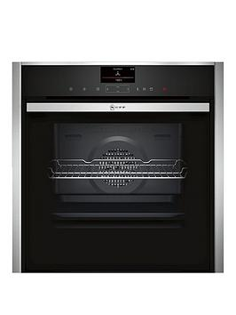 neff-b47vr32n0b-60cm-built-in-slideamphideregnbspelectric-single-oven-withnbspcircothermreg-stainless-steel