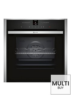 neff-b57cr22n0b-60cm-pyrolytic-slide-and-hide-single-electric-oven-stainless-steel