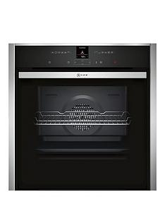 neff-b57cr22n0b-60cm-slide-and-hide-single-electric-oven-with-pyrolyticnbspself-cleaning-cyclenbsp--stainless-steel