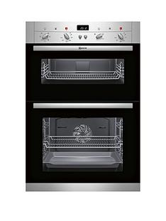 neff-classic-collection-2-60cm-u12s52n3gb-built-in-double-oven-stainless-steel
