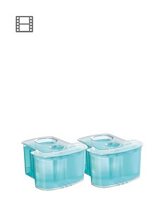Philips JC302/50 Cleaning Cartridge with Dual Filter System & Active Lubrication - Pack of 2