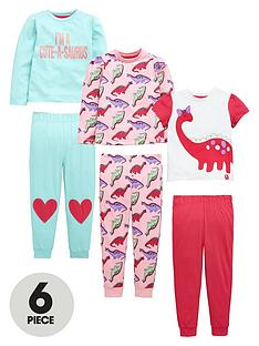 mini-v-by-very-toddler-girls-pretty-dino-pyjamas-6-piece