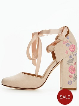 v-by-very-chestnut-floral-embroidered-heeled-shoe-nude