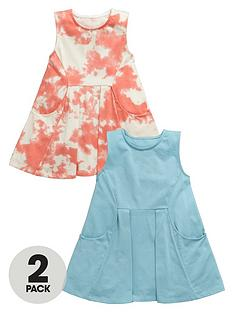 mini-v-by-very-toddler-girls-2-pack-plain-amp-tie-dye-summer-dresses