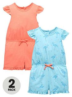 mini-v-by-very-toddler-girls-2pk-frill-shoulder-flamingo-playsuits
