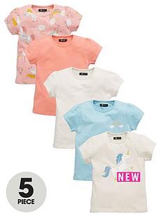 mini-v-by-very-toddler-girls-unicorn-t-shirts-5-pack