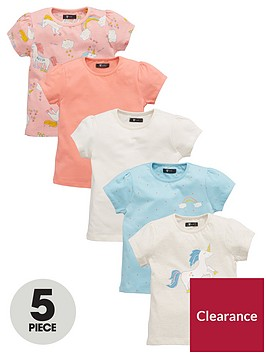 mini-v-by-very-toddler-girls-unicorn-t-shirts-5-pack