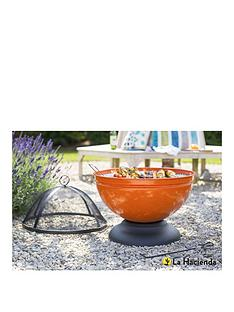 la-hacienda-globe-orange-enamelled-firebowl