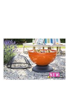 la-hacienda-globe-orange-enamelled-firebowl