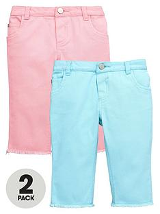 mini-v-by-very-toddler-girls-bleach-wash-cropped-jeans-2-pack