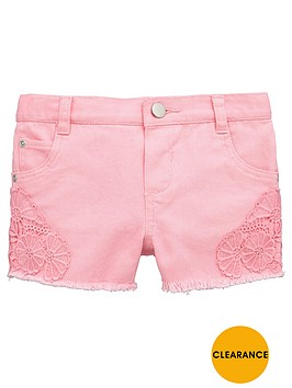 mini-v-by-very-toddler-girls-crochet-trim-denim-shorts-ndash-pink