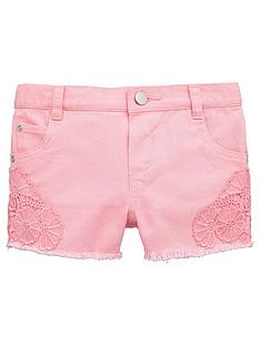 mini-v-by-very-toddler-girls-pink-crochet-trim-denim-shorts