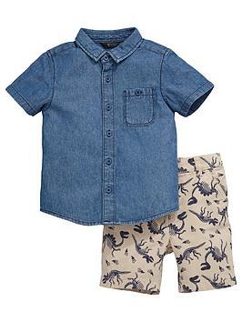 mini-v-by-very-toddler-boys-denim-shirt-and-dino-printed-shorts-set-2-piece-br