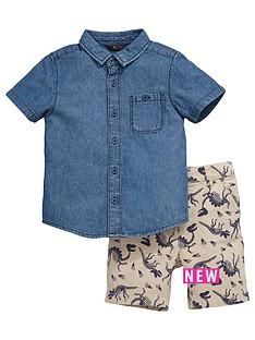 mini-v-by-very-toddler-boys-denim-shirt-and-printed-shorts-set-2-piece