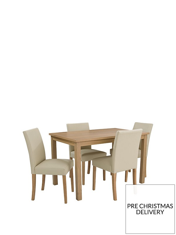 Prime Primo 120 Cm Dining Table 4 Faux Leather Chairs Gmtry Best Dining Table And Chair Ideas Images Gmtryco