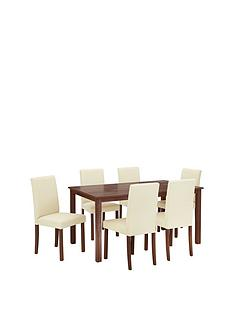 new-primo-150cm-dining-table-amp-6-faux-leather-chairs-buy-and-save